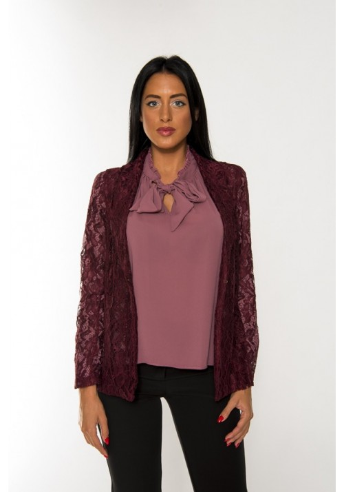 GIACCA  PIZZO 2548-BORDEAUX