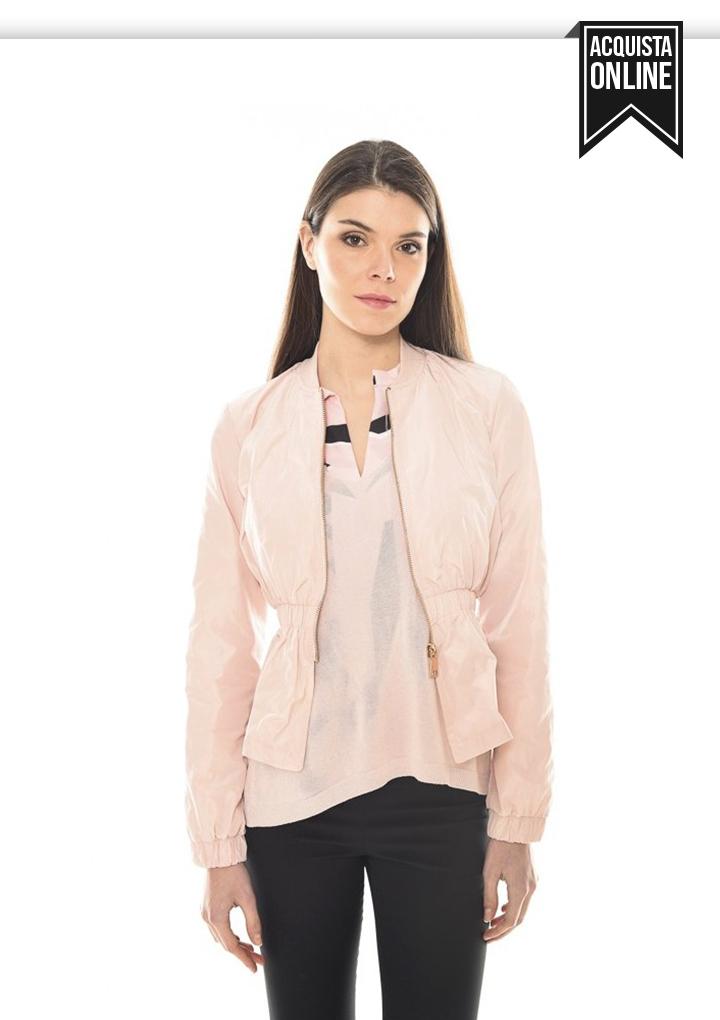 giubbino leggero giacca rosa
